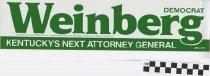 Image of Weinberg: Democrat:Kentucky's Next attorney General
