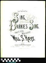Image of Sing, darkies, sing! - Hays, Will. S. 1837-1907.  (William Shakespeare),