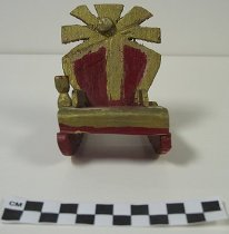 Image of 2008.201.11 - carved miniature rocking chair