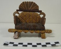 Image of carved miniature chair - Carving