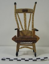 Image of 2008.201.5 - carved miniature chair