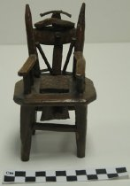 Image of 2008.201.6 - carved miniature chair