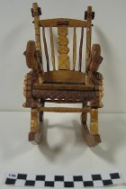 Image of 2008.201.9 - carved miniature rocking chair