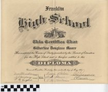 Image of Franklin High School Diploma for Gilbertine Moore