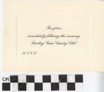 Image of Reception Card Willock Bond wedding