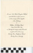 Image of Willock Bond Wedding Invitation
