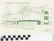 Image of Goodnight Memorial Library dedication program