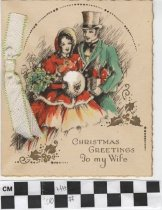 Image of Christmas Greetings To My Wife Greeting Card