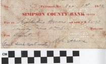 Image of Simpson County Bank Receipt, 1939