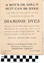 Image of Diamond Dyes advertisement, Wells & Richardson Co.