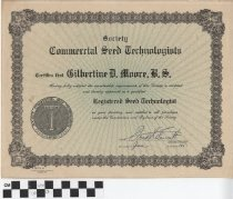 Image of Commercial Seed Technologists Society Certificate