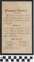 Image of Funeral Notice, 1892