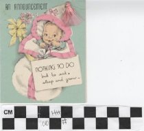 Image of An Announcement Greeting Card