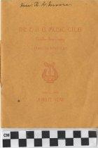 Image of The E. H. G. Music Club program