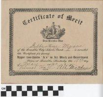 Image of certificate of merit