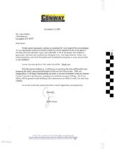 Image of Thank you letter from Jack Conway