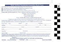 Image of Rudy Giuliana Presidential Committee Reply Form