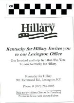 Image of Kentucky for Hillary Invite you to our Lexington Office