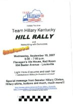 Image of Team Hillary Hill Rally!