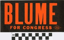 Image of Blume for Congress