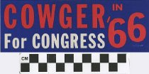 Image of Cowger in '66 for Congress