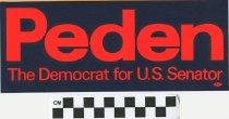 Image of Peden: The Democrat for U.S. Senator