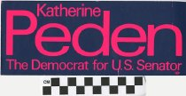 Image of Katherine Peden: The Democrat of U.S. Senator