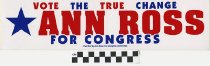 Image of Vote the True change: Ann Ross for Congress