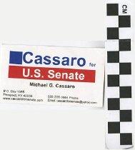 Image of Michael G. Cassaro for United States Senate