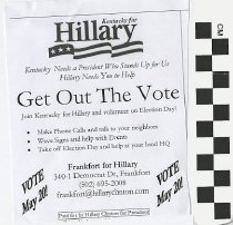 Image of Hillary Clinton Get our the Vote