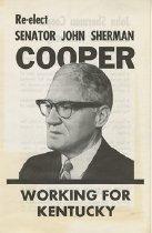 Image of Re-Elect Senator John Sherman Cooper
