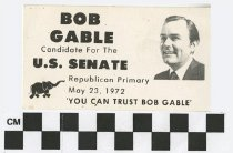 Image of Bob Gable: Candidate for U.S. Senate