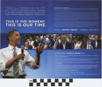 Image of Obama: This is the Moment. This is our time.