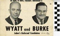 Image of Wyatt and Burke: Labor endorsed