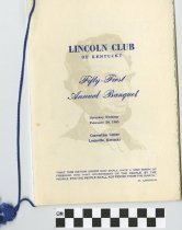 Image of Lincoln Clun of Kentucky 51st Annual banquet