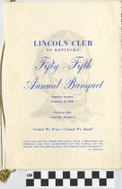 Image of Lincoln Club of Kentucky 55th annual Banquet