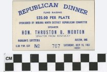Image of Republican Dinner with Thurston B. Morton