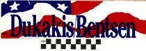 Image of Dukakis / Bentsen [bumper sticker] -