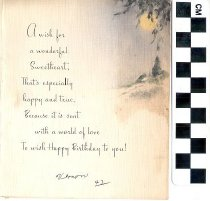 Image of birthday greeting card