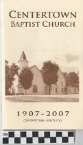 Image of Centertown Baptist Church 100th Anniversary Program