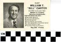 "Image of William T. ""Bill"" Carter Campaign Card"
