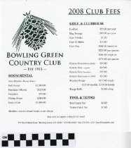 Image of Bowling Green Country Club Packet
