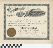 Image of Certificate of Attainment