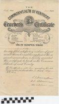 Image of Teacher's Certificate