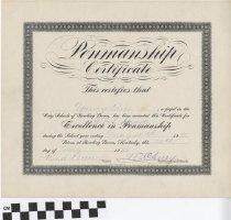 Image of Penmanship Certificate