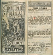 Image of Cincinnati Southern Railway Direct Route South -
