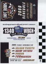 Image of Hot Rods Professional Baseball 2009 schedule