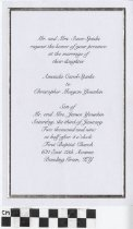 Image of Spinks Younkin wedding invitation