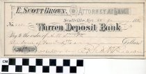 Image of Warren Deposit Bank check