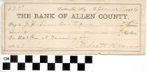 Image of the bank of allen county check